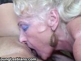 Blonde mature granny loves having part1
