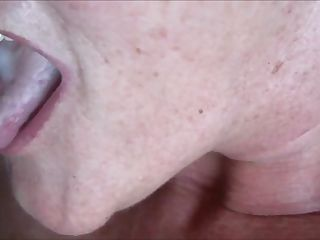 Cumming Into Grannys Mouth HD Closeup